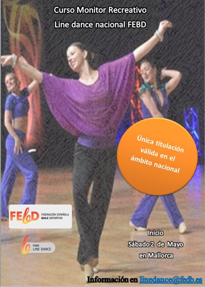 Curso de monitor recreativode linedance